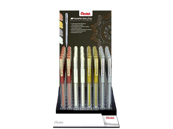 Gelschrijver Pentel K118 0.3mm display à 4 kleuren