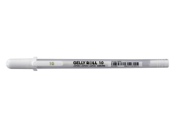 Gelschrijver Sakura Gelly Roll Basic 10 0.5mm wit