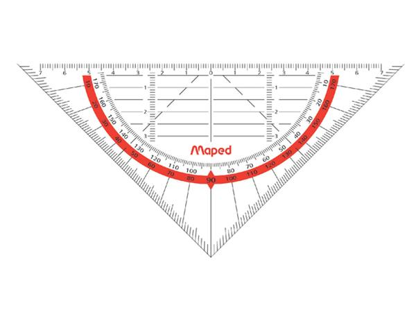 Geodriehoek Maped 028600 160mm flexibel transparant