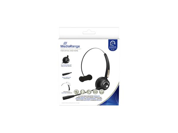 Headset+MediaRange+HP-116+H520+mono+zwart