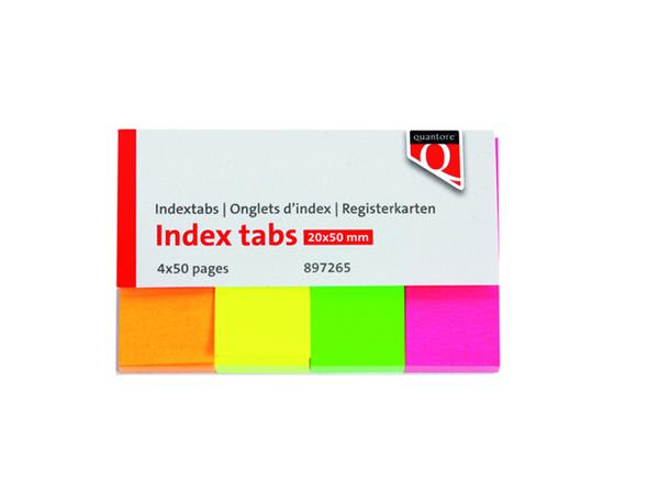 Indextabs Quantore 20x50mm neon