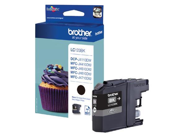 Inkcartridge Brother LC-123BK zwart
