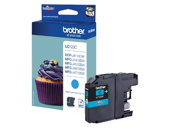 Inktcartridge+Brother+LC-123C+blauw