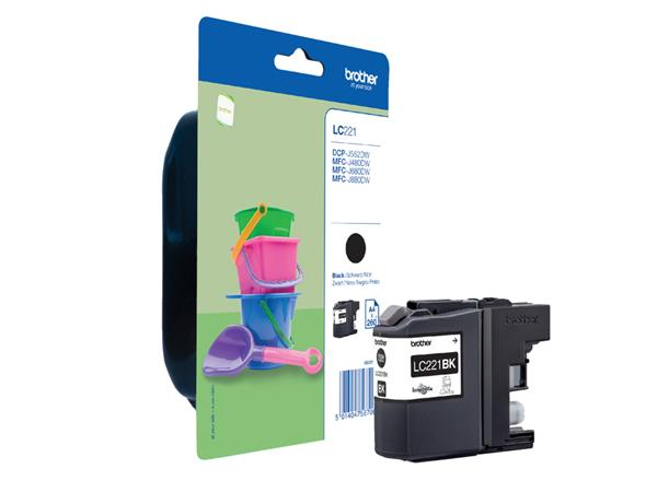 Inktcartridge Brother LC-221 zwart