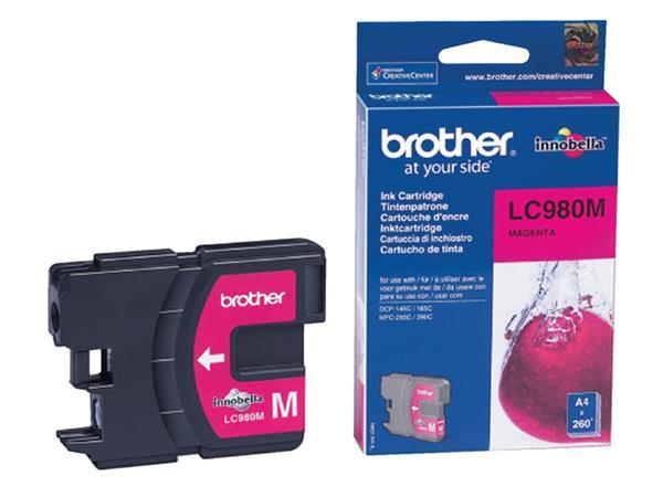 Inktcartridge Brother LC-980M rood