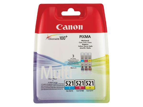 Inkcartridge Canon CLI-521 3 kleuren