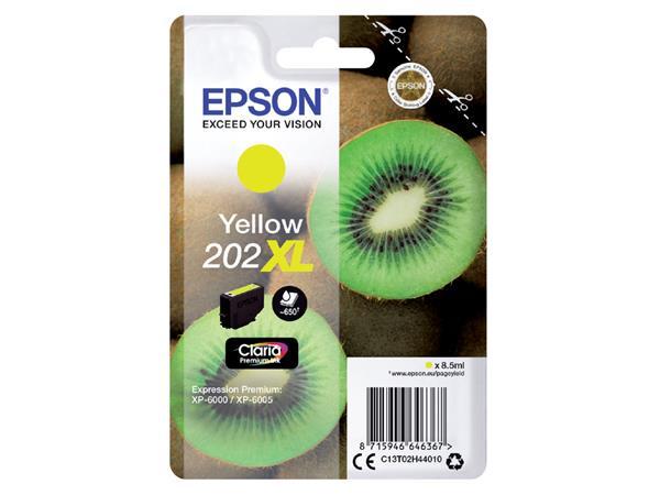 Inktcartridge Epson 202XL T02H44 geel HC