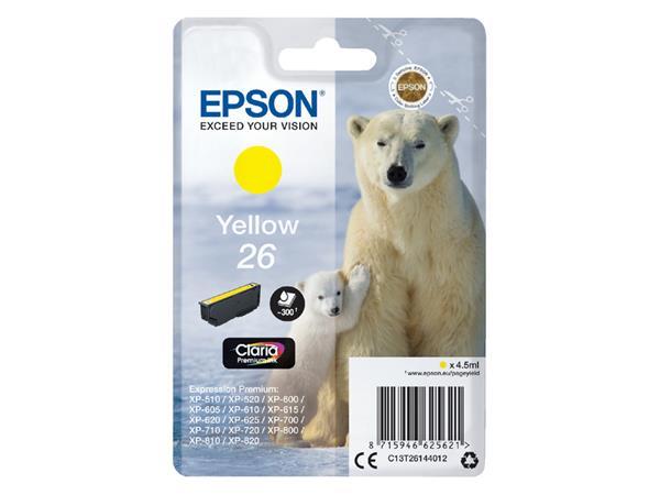 Inktcartridge Epson 26 T2614 geel
