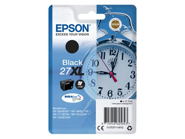 Inktcartridge Epson 27XL T2711 zwart HC