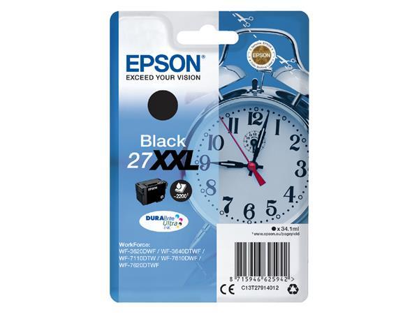 Inkcartridge Epson 27XXL T2791 zwart EHC