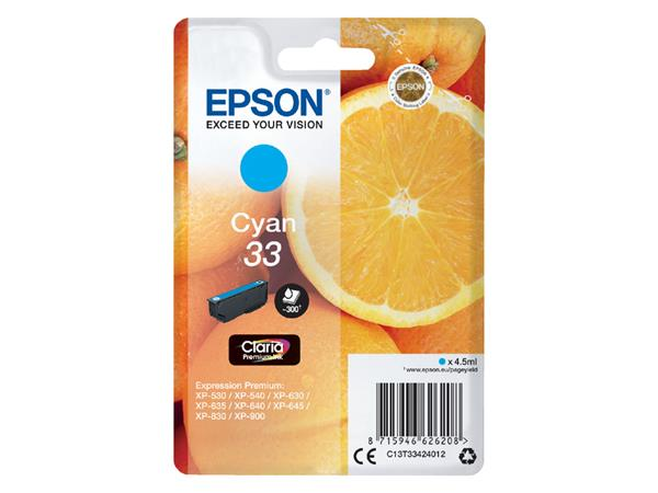 Inktcartridge Epson 33 T3341 blauw