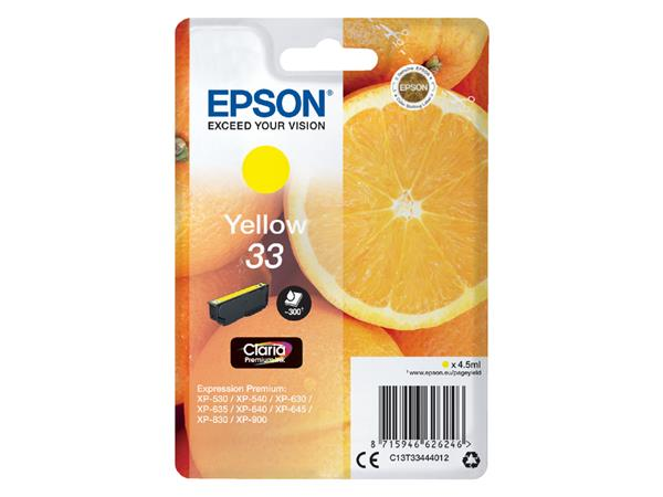 Inktcartridge Epson 33 T3344 geel