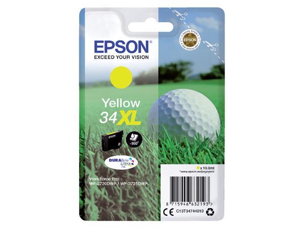 Inktcartridge Epson 34XL T3474 geel HC