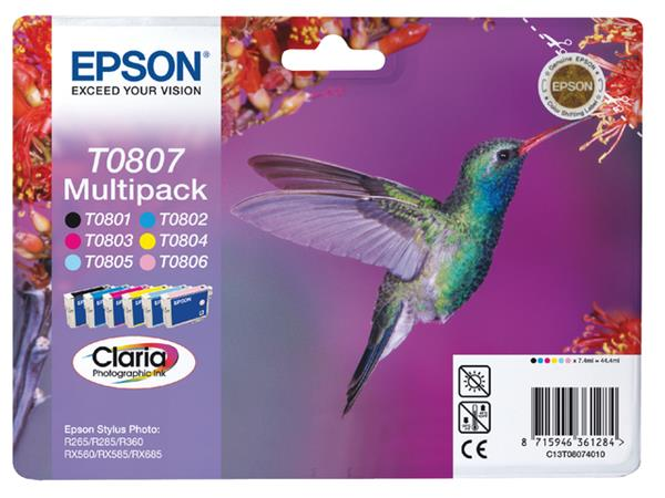 INKCARTRIDGE EPSON T080740 ZWART 5 KLEUREN