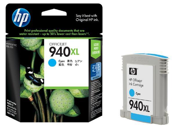 Inktcartridge HP C4907AE 940XL blauw HC