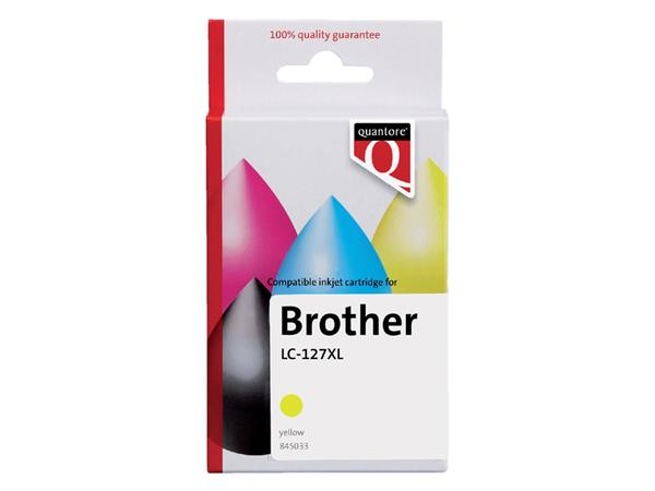 Inktcartridge Quantore Brother LC-125XL geel