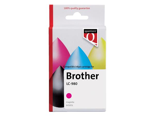 Inkcartridge Quantore Brother LC-980 rood