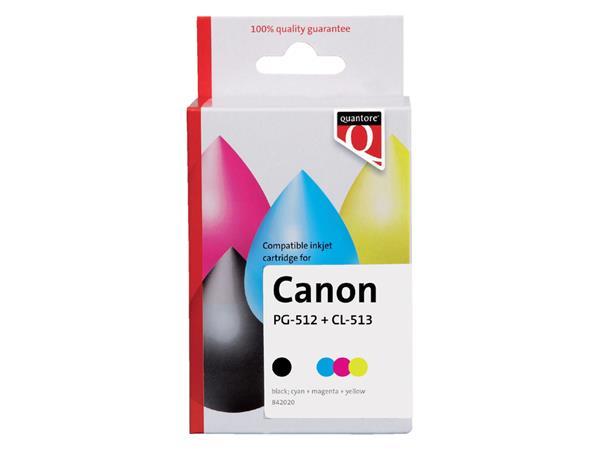 Inktcartridge Quantore Canon PG-512 CL-513 zwart + kleur