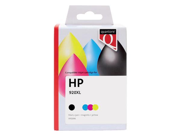 Inkcartridge Quantore HP CH081AE 920XL zwart + 3 kleuren