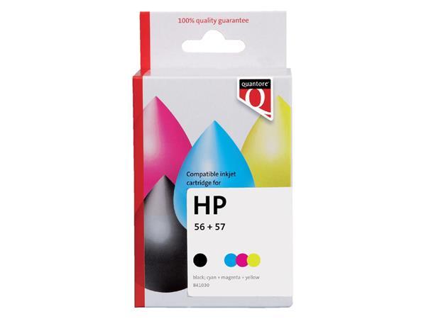 Inktcartridge Quantore HP SA342AE 56 57 zwart kleur