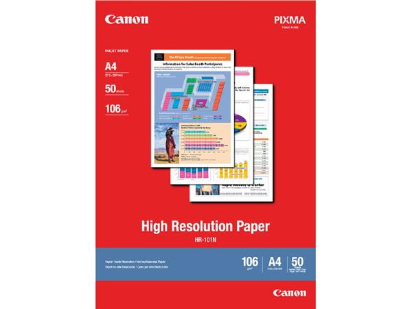 INKJETPAPIER CANON HR-101 A4 106GR HOGE RESOLUTIE