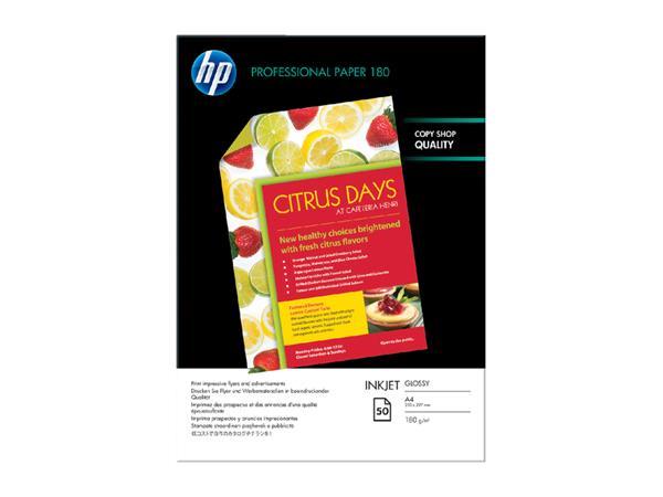 INKJETPAPIER HP C6818A A4 180GR DUBBELZIJDIG GLANS