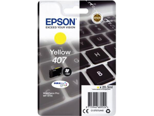 Inktcartridge Epson 407 T07U440 geel
