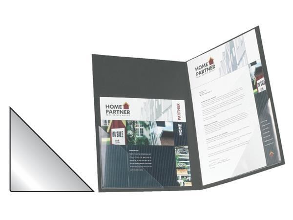 Insteektas Tarifold driehoek 75x75mm zelfklevend PP transparant