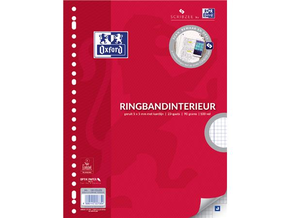 INTERIEUR OXFORD A4 23R RUIT 5MM 90GR 100VEL