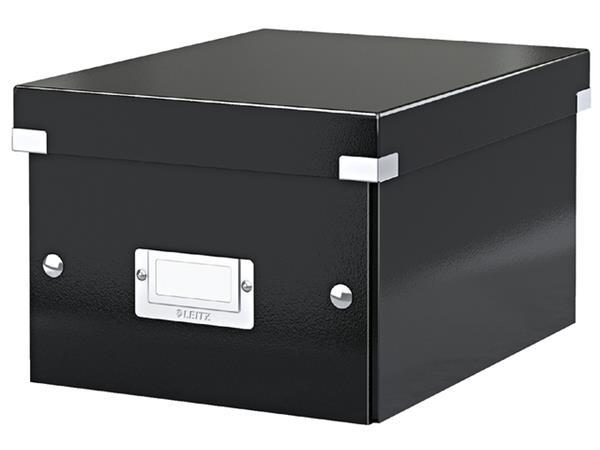 Opbergbox Leitz WOW Click & Store 200x148x250mm zwart