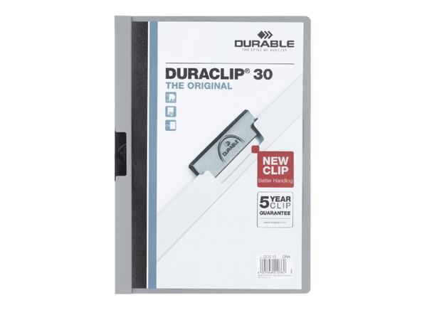 Klemmap Durable 2200 A4 3mm grijs