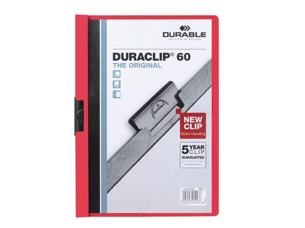Klemmap Durable 2209 A4 6mm rood