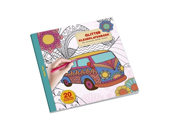 kleurboek interstat volwassenen glitter thema road trip