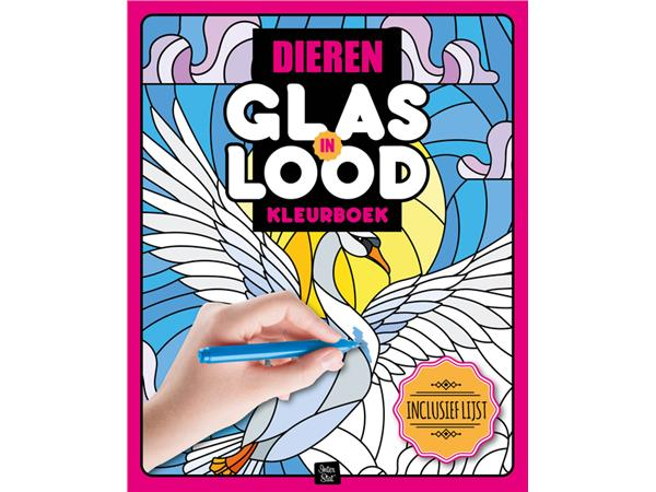 kleurboek interstat volwassenen glas in lood thema dieren