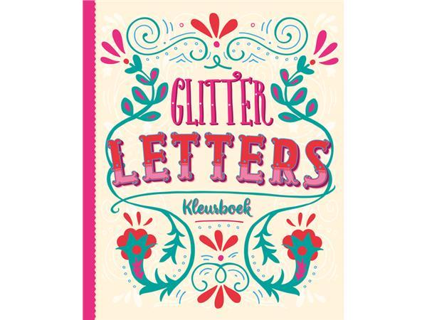 kleurboek interstat volwassenen glitter letters
