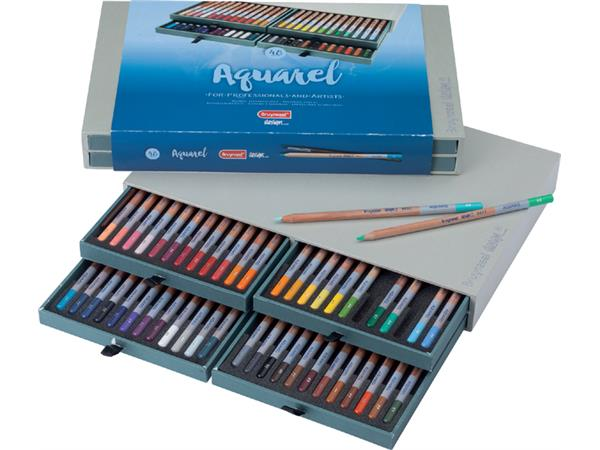 bruynzeel aquarell-kleurpotloden design aquarell- 48 stuks box