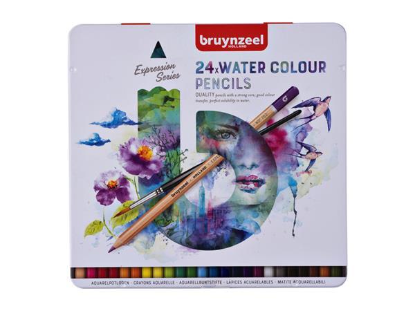 bruynzeel aquarell-kleurpotlodene expression- 24 stuks metalletui