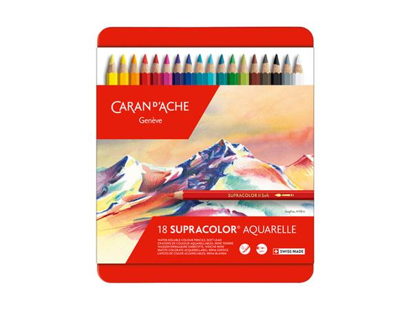 KLEURPOTLOOD CARAN D'ACHE SUPRACOLOR 18ST ASS