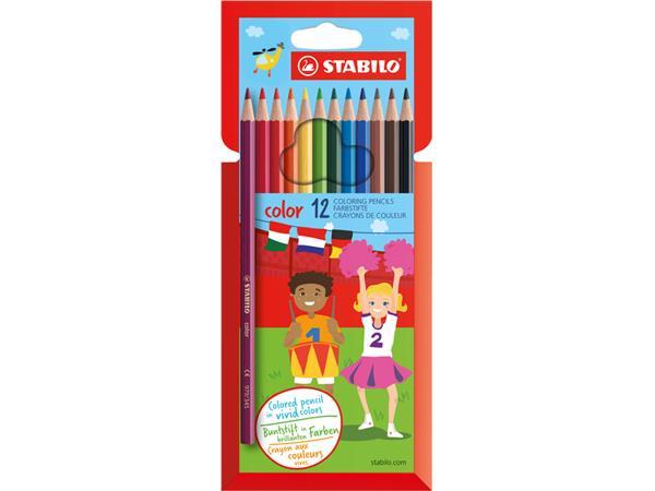Kleurpotloden Stabilo Color 979 blister à 12 stuks assorti