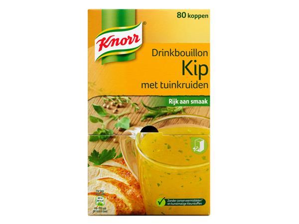 Knorr Drinkbouillon Knorr kip met tuinkruiden 80 zakjes