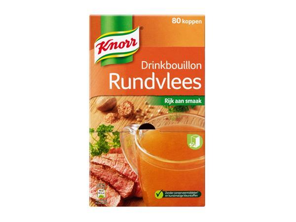Drinkbouillon Knorr rundvlees 80 zakjes