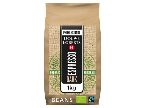 KOFFIE DE ESPRESSO DARK ROAST ORGANIC & FAIRTRADE 1000GR