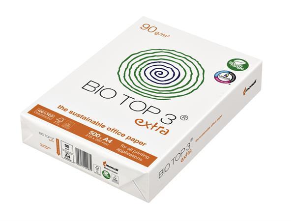 Kopieerpapier+BioTop+3+A4+90gr+naturel+500vel