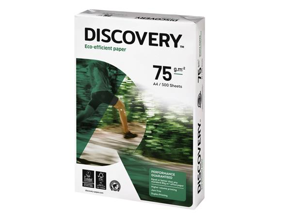 Kopieerpapier+Discovery+A4+75gr+wit+500vel