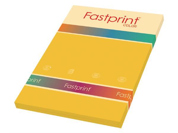 Kopieerpapier Fastprint A4 160gr goudgeel 50vel