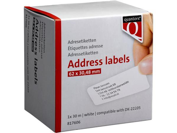 Labeletiket Quantore DK-22205 62x30,48m wit