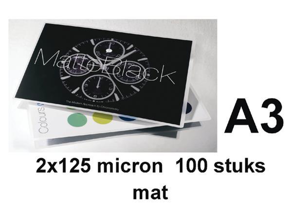 LAMINEERHOES GBC A3 2X125MICRON MAT