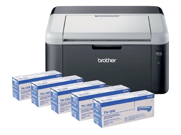 LASERPRINTER BROTHER HL-1212W + 4 EXTRA TONERS TN1050
