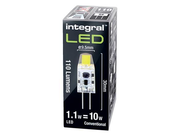 LEDLAMP INTEGRAL G4 1.1W 4000K WARM WIT