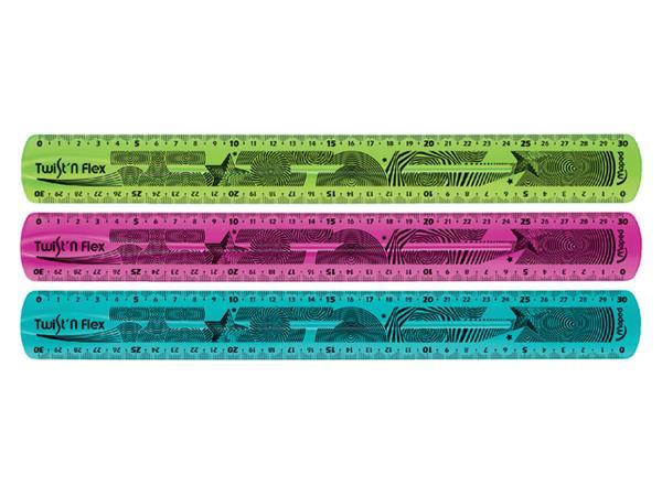 Liniaal Maped 027900 Twist'n flex 300mm assorti